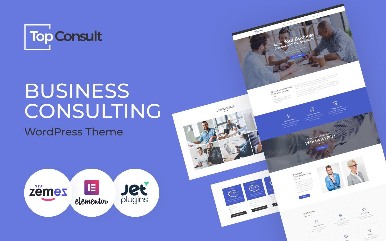 TopConsult - Business Consulting WordPress Theme Tema WordPress №65484
