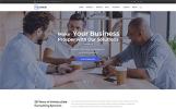 """TopConsult - Conseil aux entreprises"" thème WordPress adaptatif"