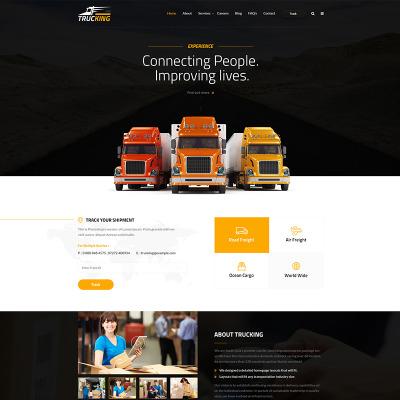 trucking templates templatemonster