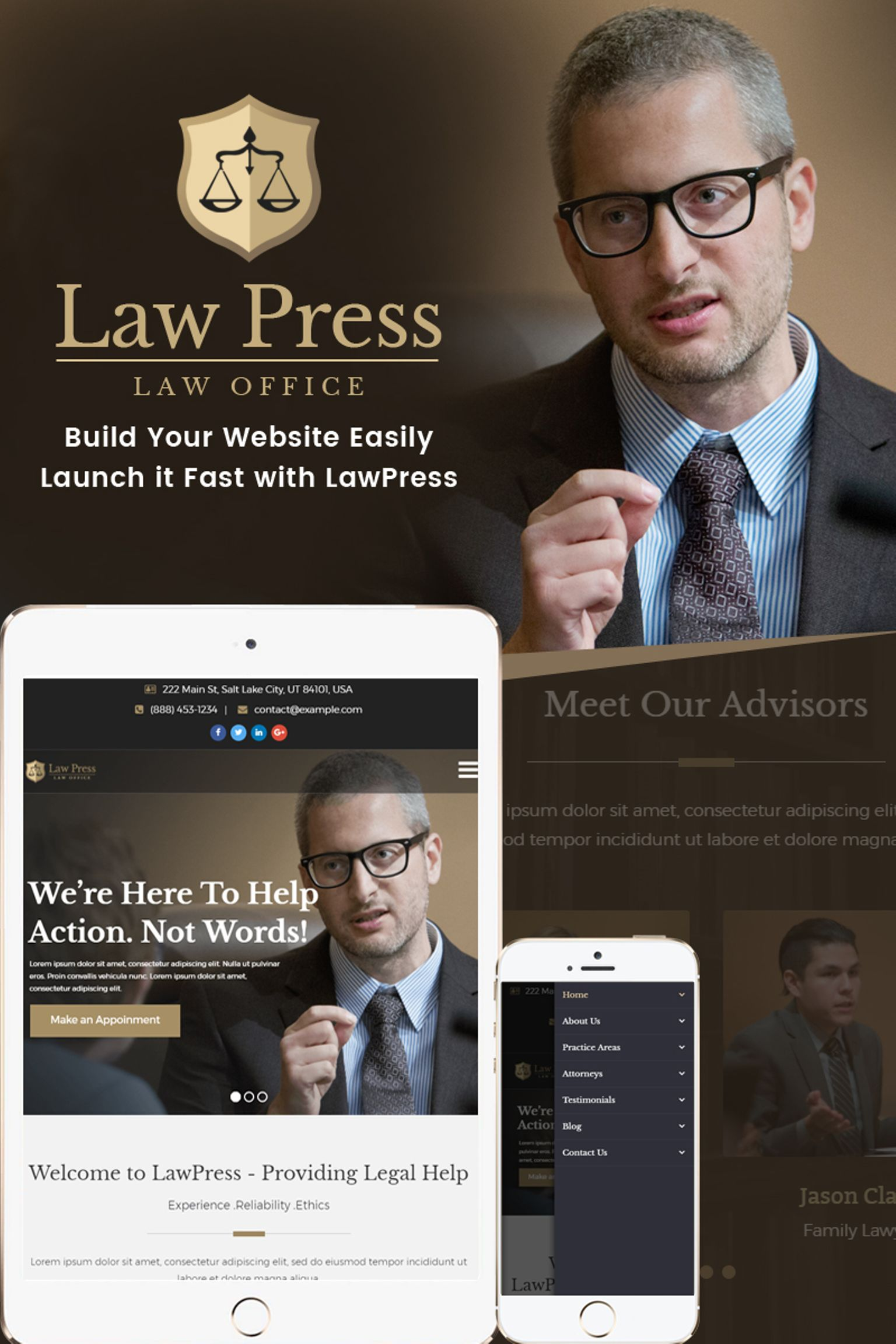 "WordPress Theme namens ""LawPress - Lawyer & Attorney"" #65449"