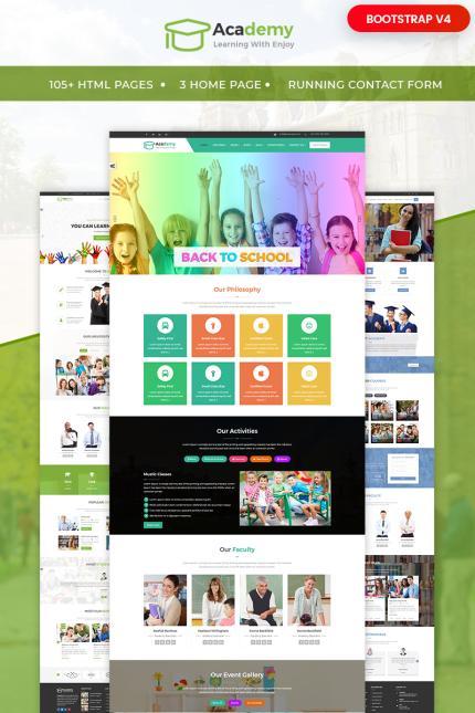 Website Design Template 65554 - academy bootstrap