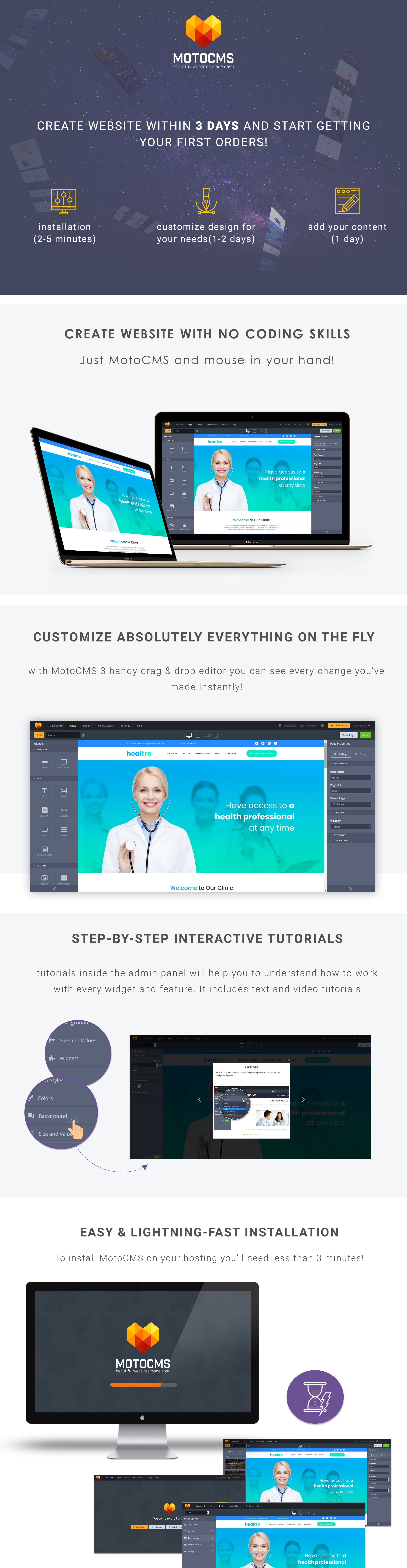 Private Medical Clinic Moto CMS 3 Template