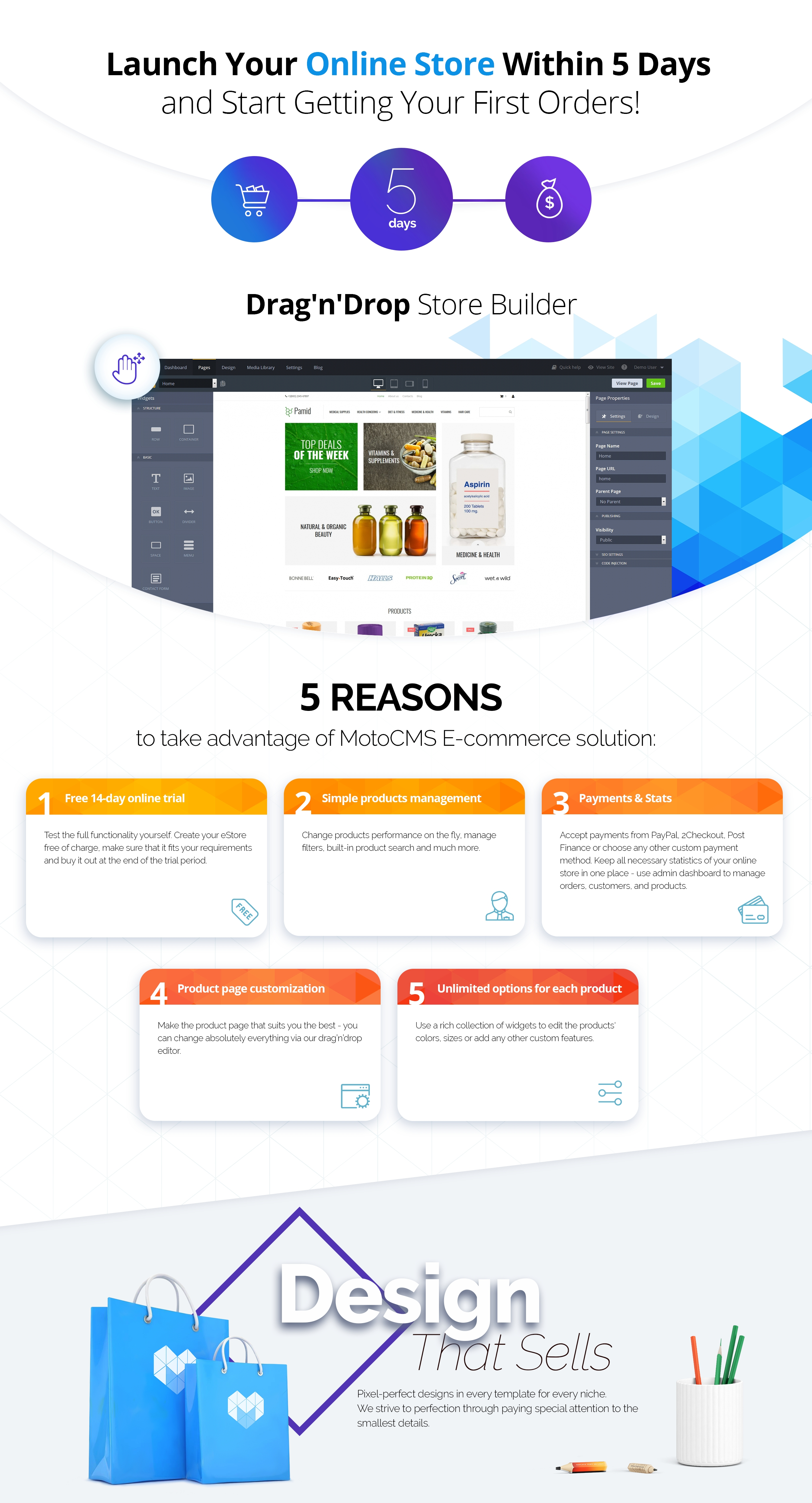 Pamid - Online Drugstore MotoCMS Ecommerce Template