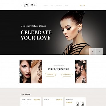 Preview image of Jewelry MotoCMS Ecommerce Template No. 65589