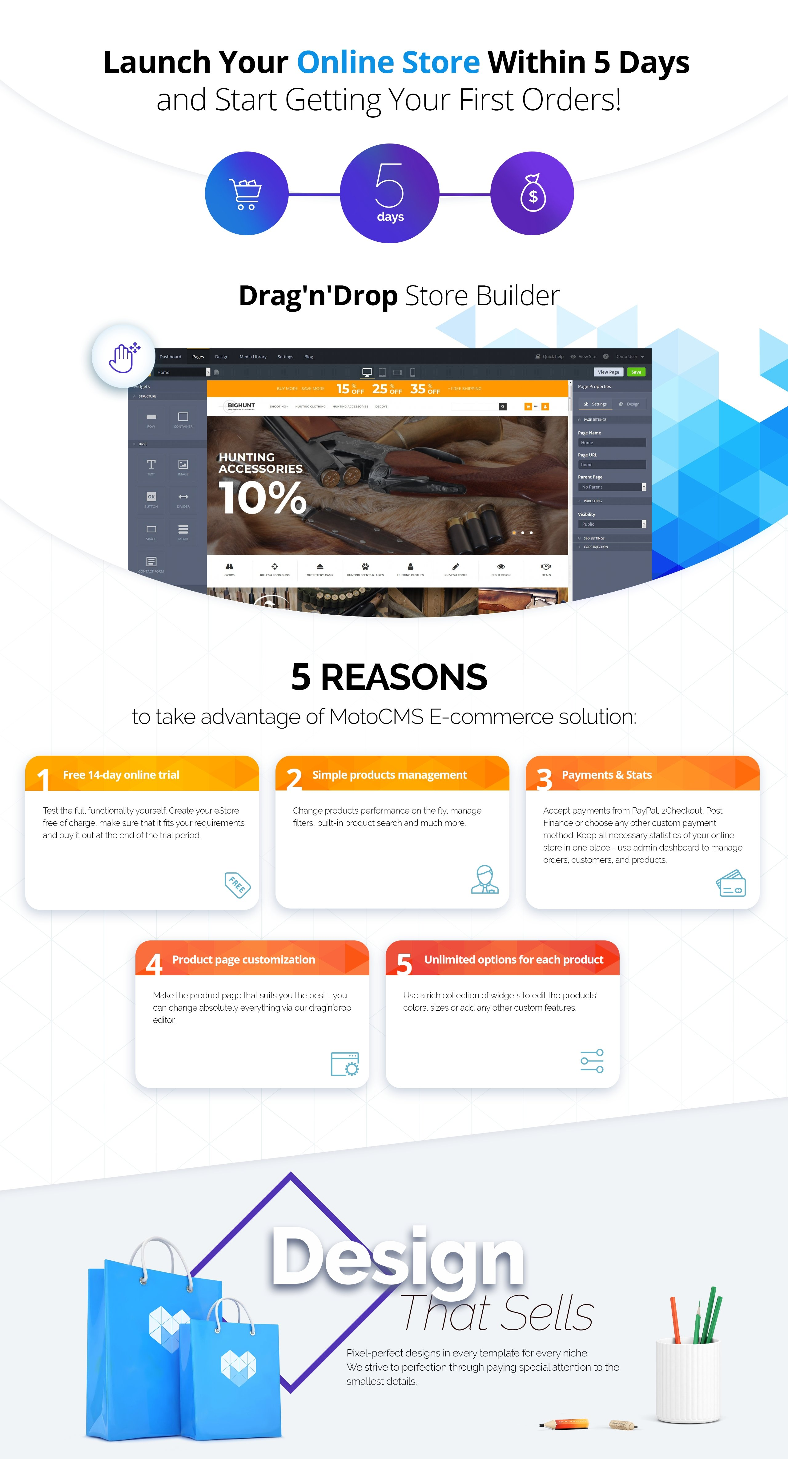 Hunting Gear and Supplies MotoCMS Ecommerce Template