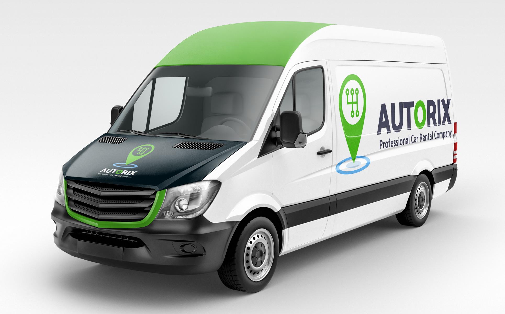 Autorix Professional Car Rental Company Logo Template 65597