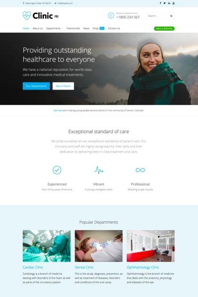 Адаптивный WordPress шаблон №65544 на тему стоматология #65544