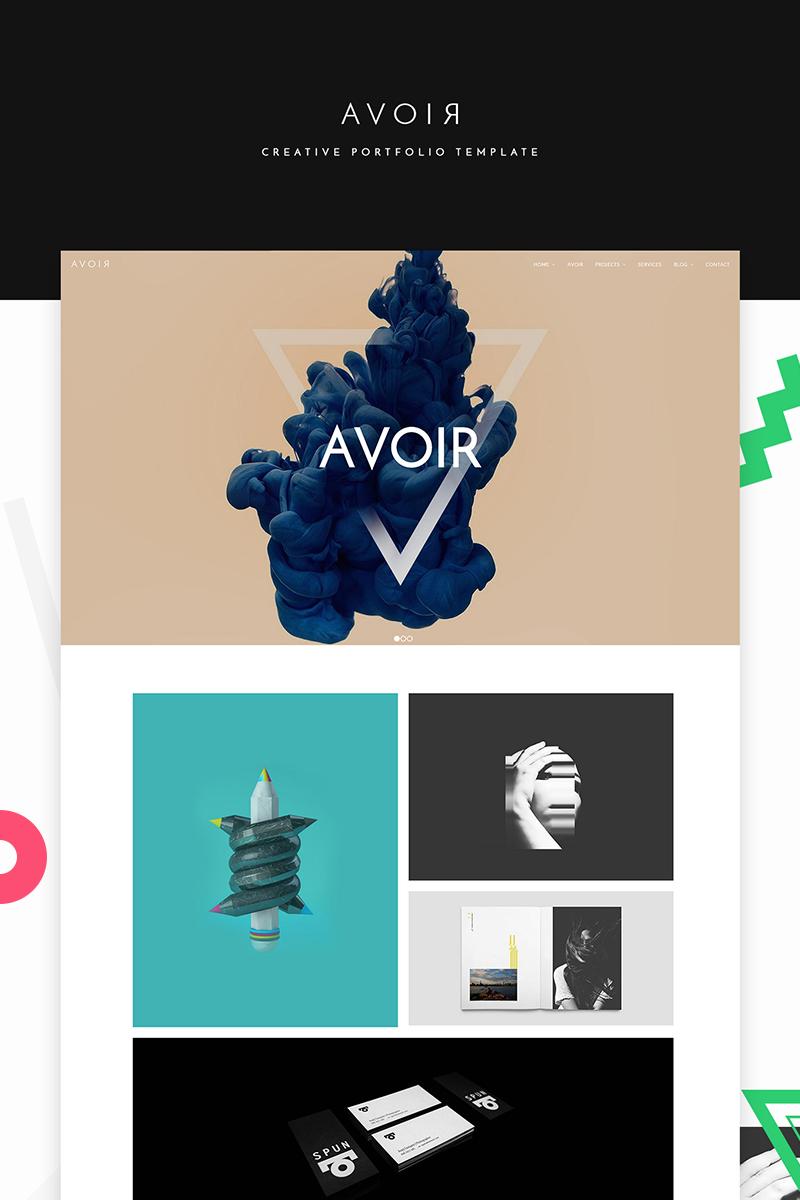 """AVOIR"" modèle web adaptatif #65541 - screenshot"