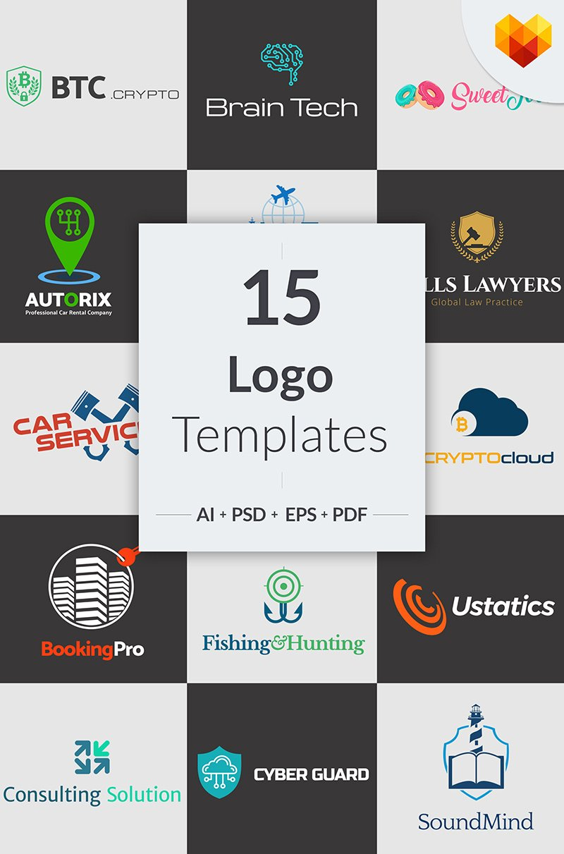 Bundle 15 Niche Business Logo Designs #65579