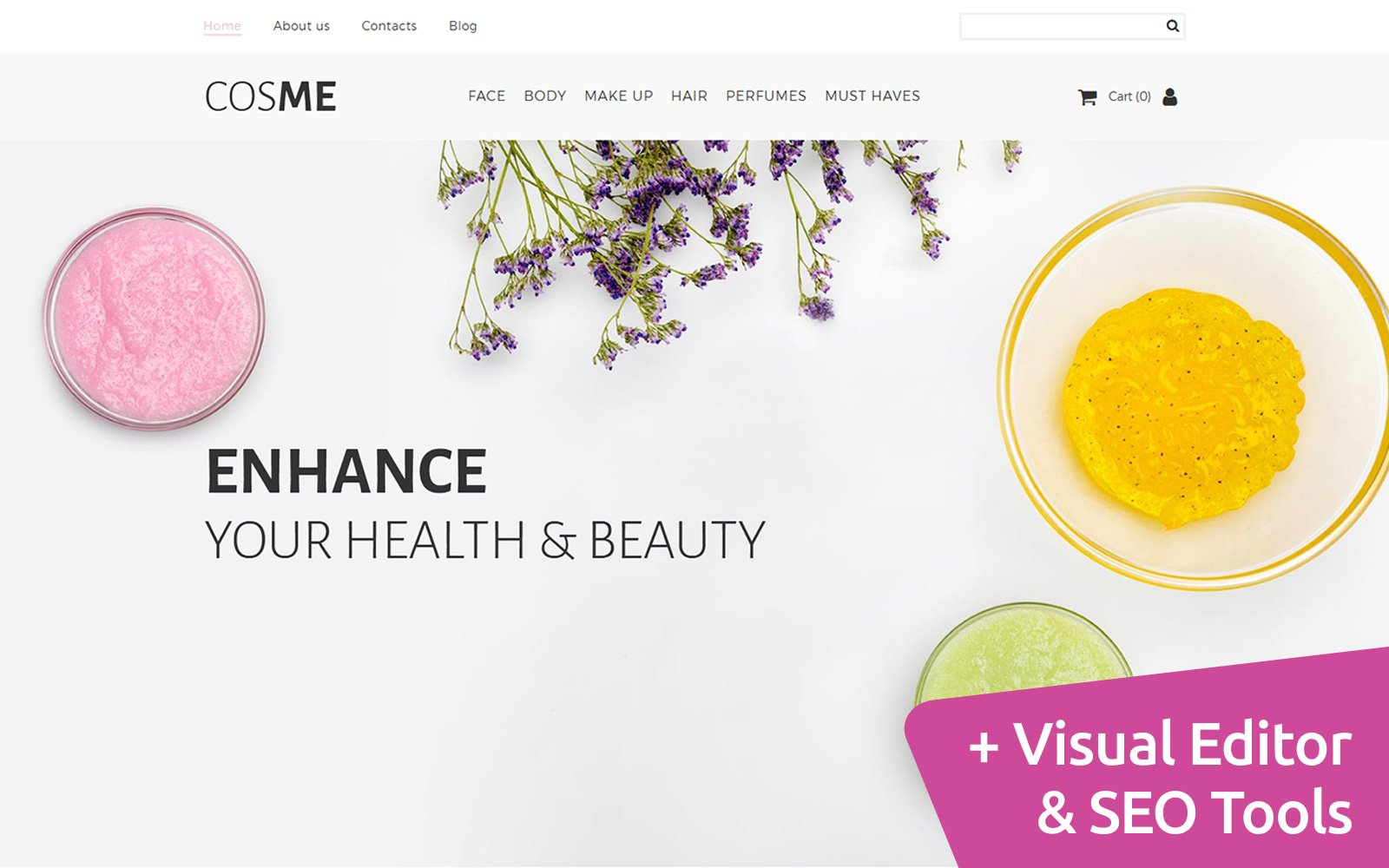 Cosmetics Template Ecommerce MotoCMS №65581
