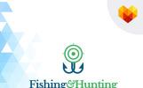 Fishing and Hunting Logó sablon