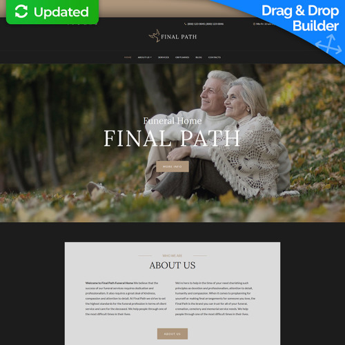 Funeral Services - MotoCMS 3 Template based on Bootstrap
