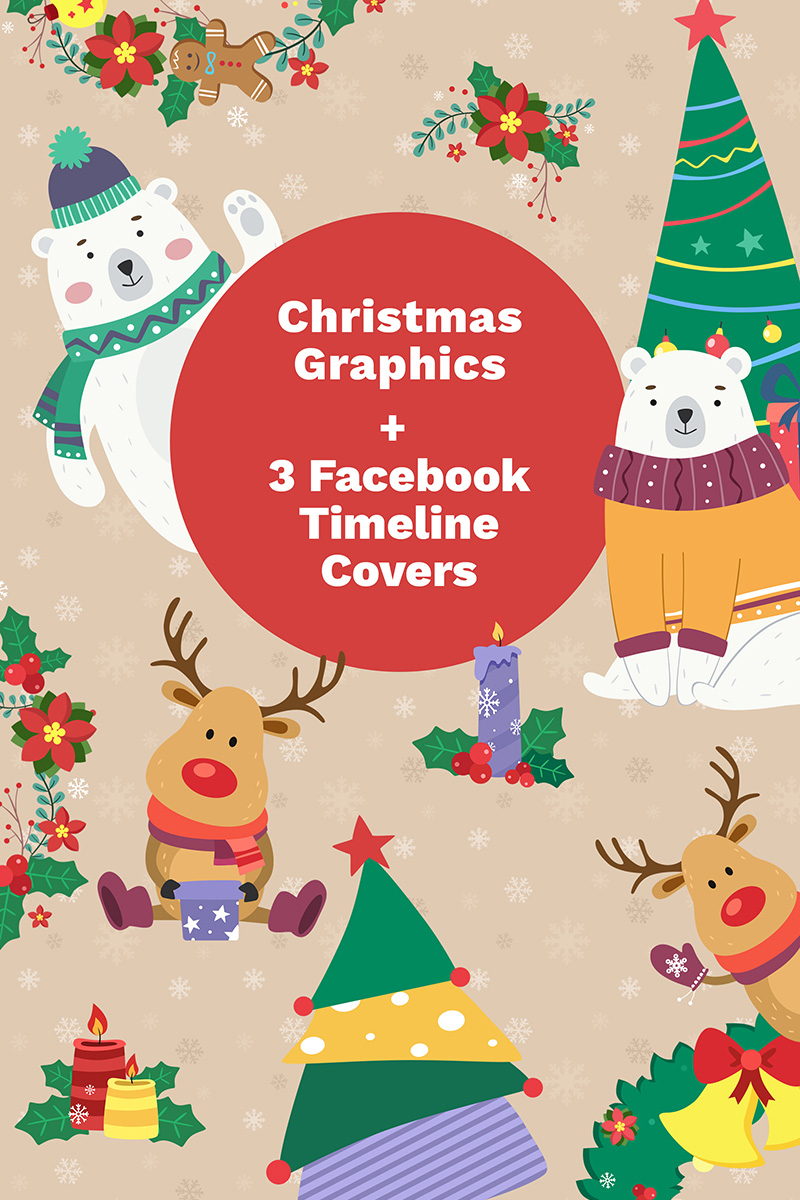 Ilustracja Facebook Cover Photos and Christmas #65578