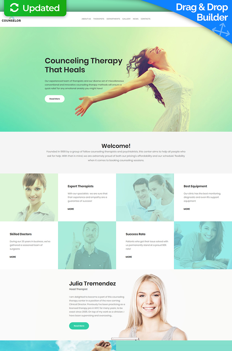 """Life Coach - Counseling Therapy"" Responsive Moto CMS 3 Template №65564 - screenshot"