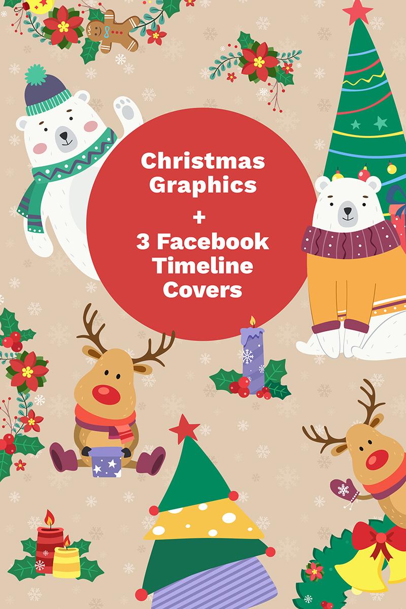 "Luxusní Ilustrace ""Facebook Cover Photos and Christmas"" #65578"