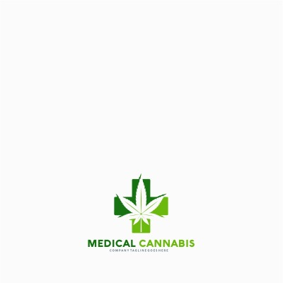 medical cannabis logo template 65512 logo templates