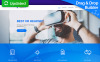 "Moto CMS 3 Template namens ""RufusVR - VR Startup"" New Screenshots BIG"
