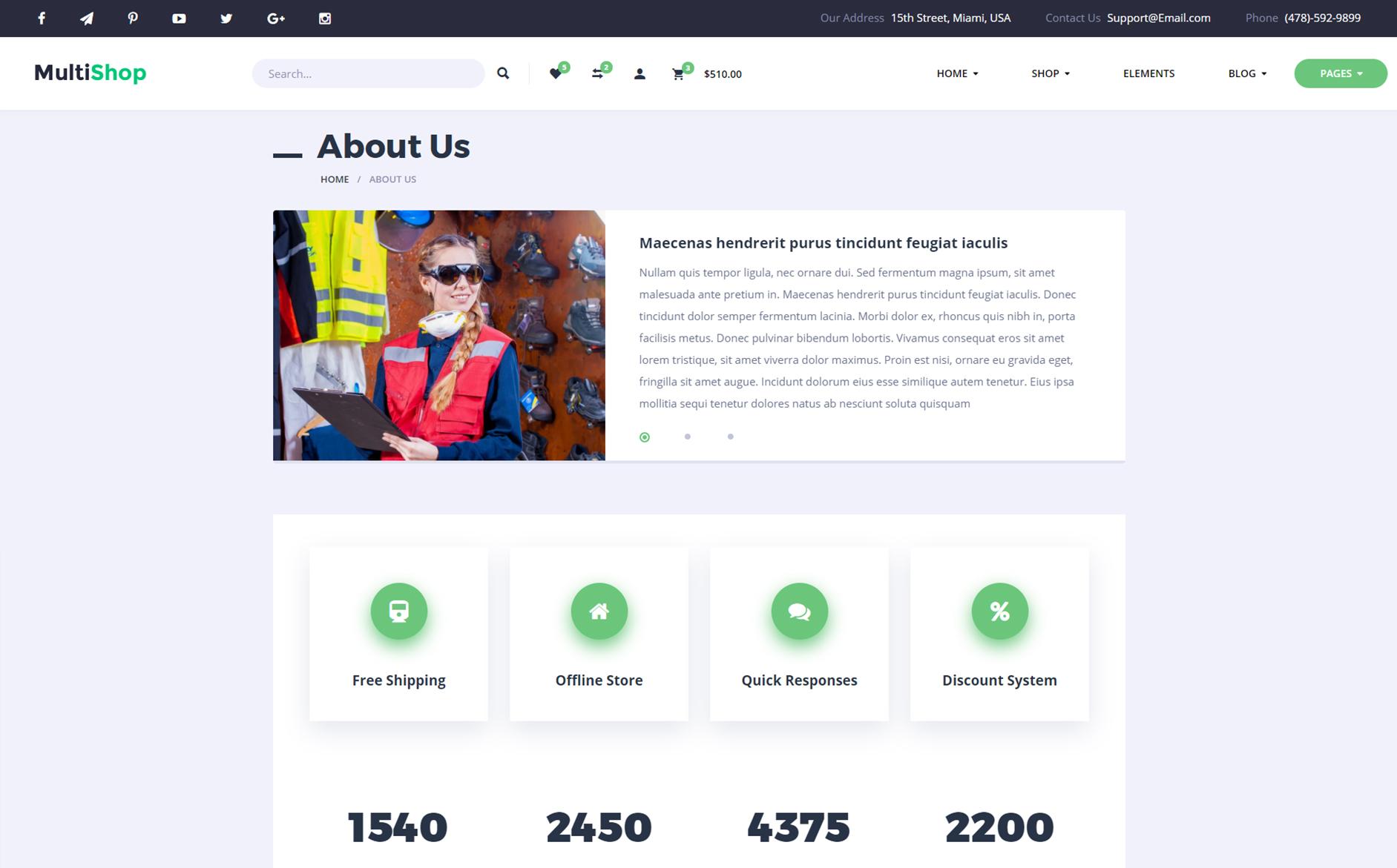 Multishop - Responsive eCommerce HTML №65542