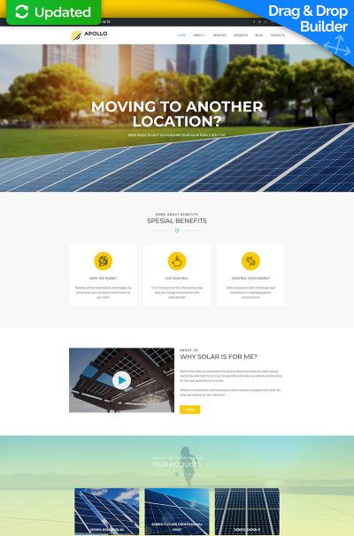 Responsive Plantilla Moto CMS 3  #65570 para Sitio de  para Sitio de Energía solar