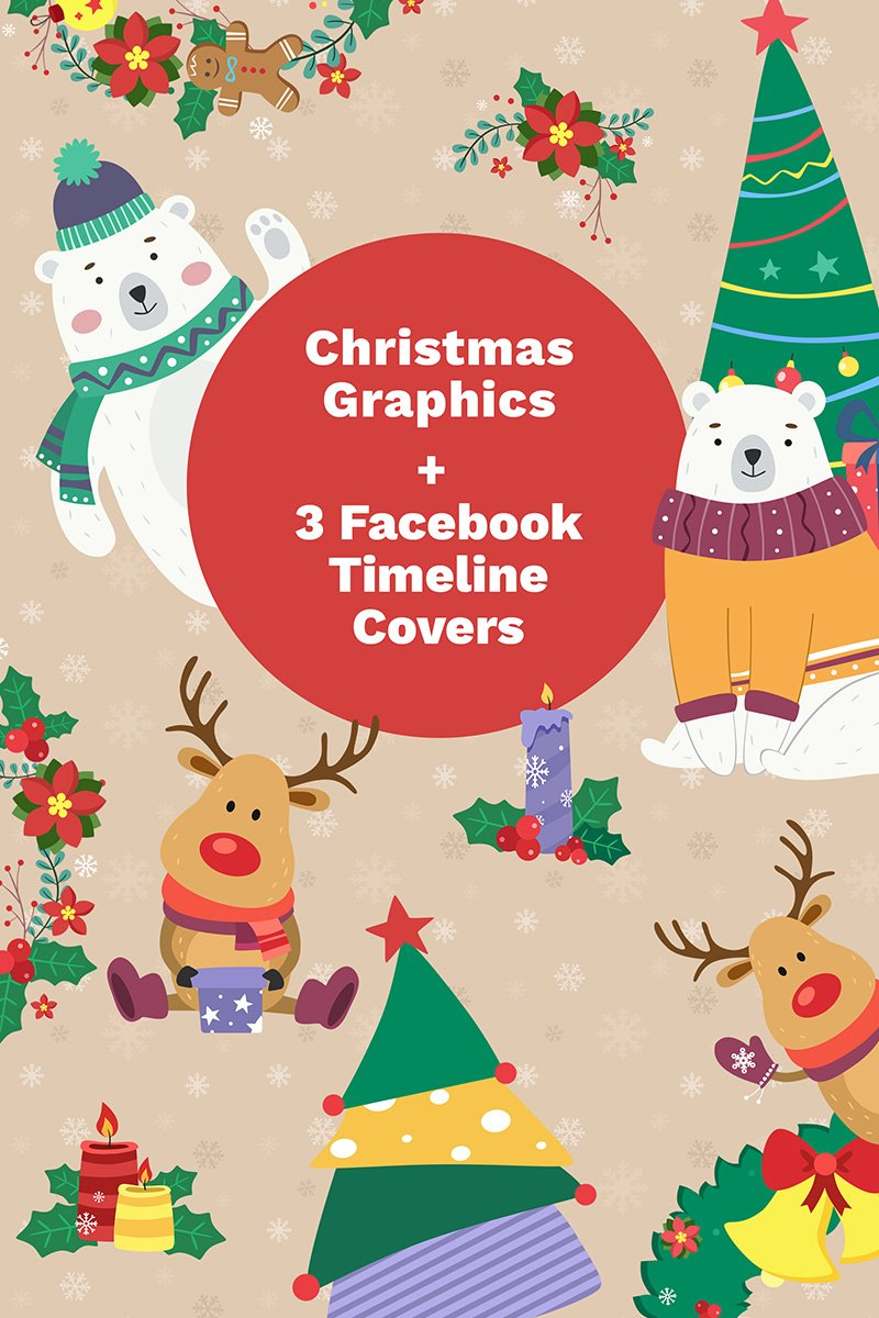Premium Facebook Cover Photos and Christmas Illustration #65578