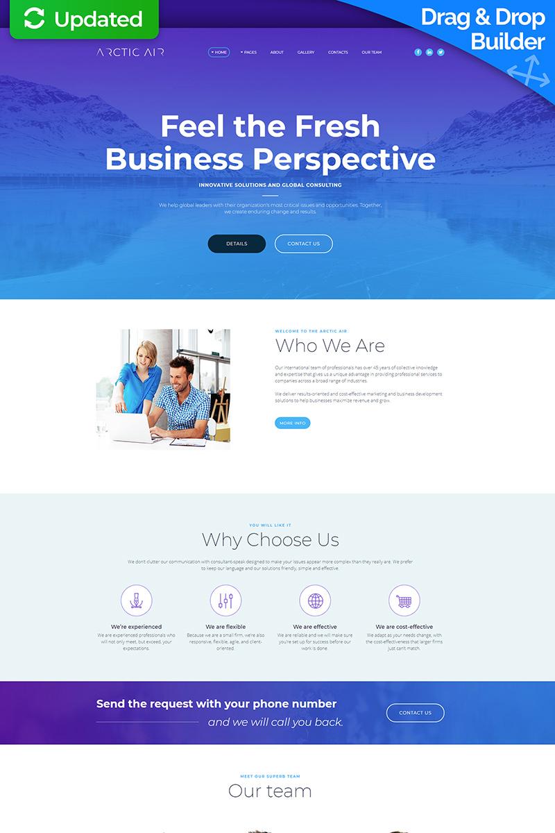Responsive Arctic - Business Startup Moto Cms 3 #65555