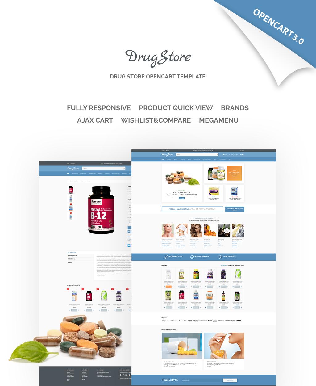 Responsive DrugStore Responsive Website Template Opencart #65548 - Ekran resmi