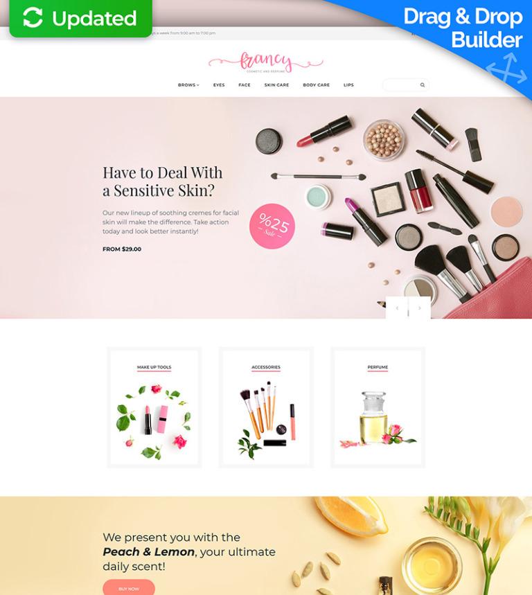 MotoCMS E-Commerce Vorlage #65588 für Kosmetik-Geschäft