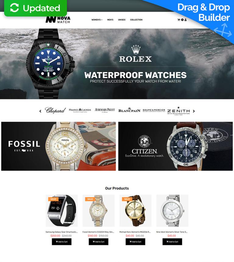 MotoCMS E-Commerce Vorlage #65585 für Uhren