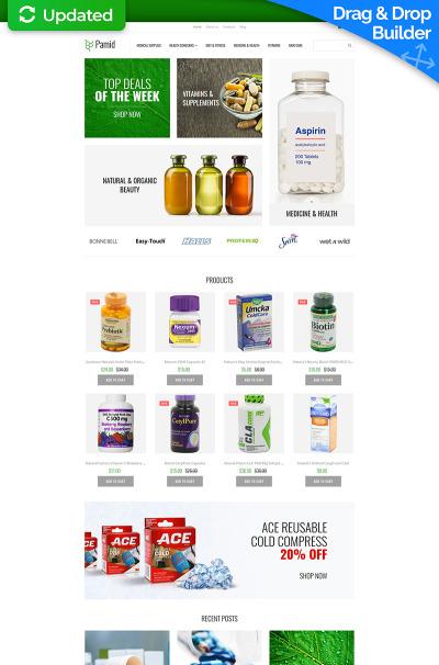 Drug Store Responsive MotoCMS E-ticaret Şablon