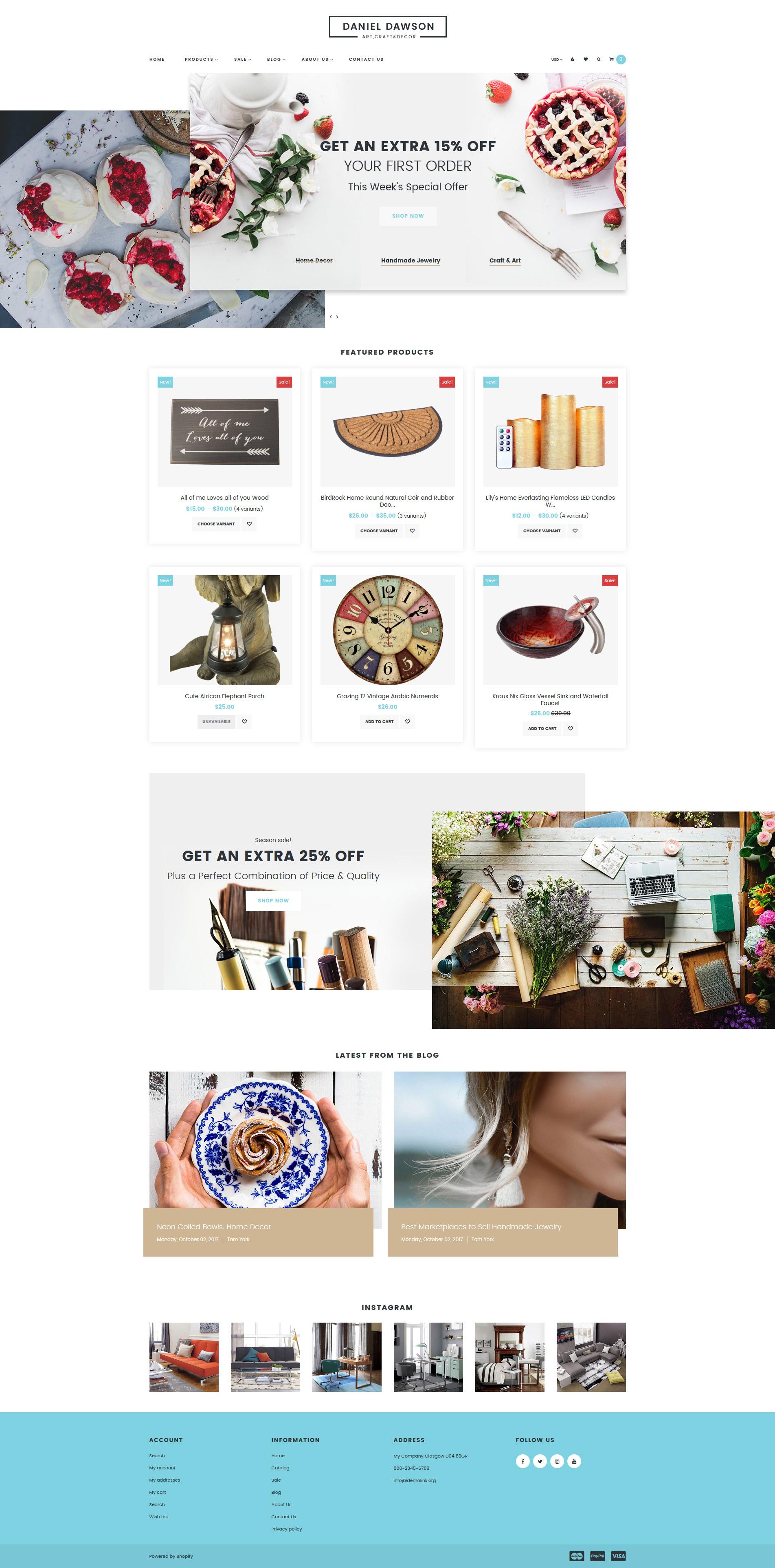 Responsives Shopify Theme für Wohndekor #65551