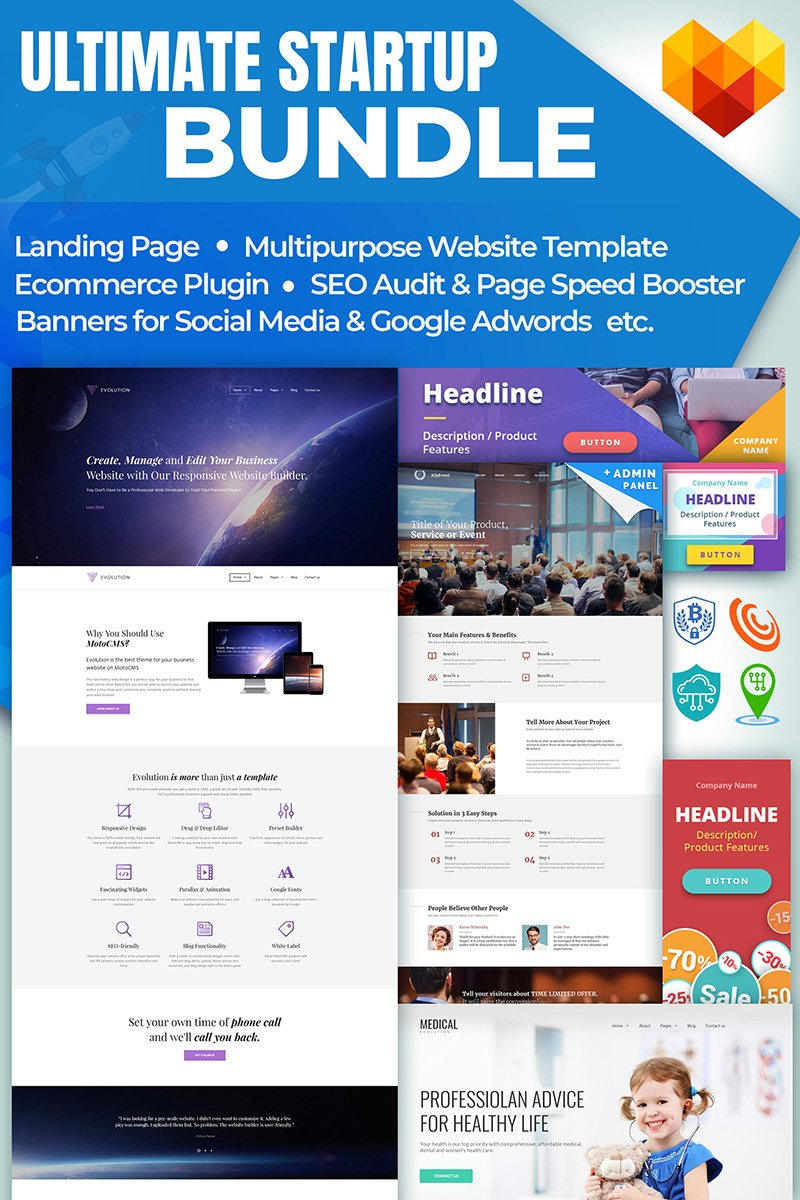 "Responzivní Bundle ""Ultimate Startup"" #65580 - screenshot"