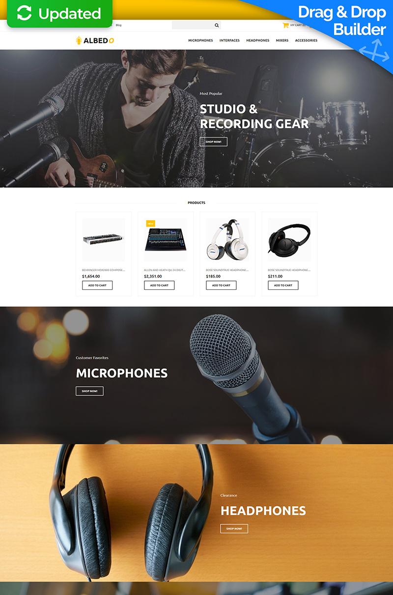 "Responzivní MotoCMS Ecommerce šablona ""Albedo - Audio Shop"" #65586"