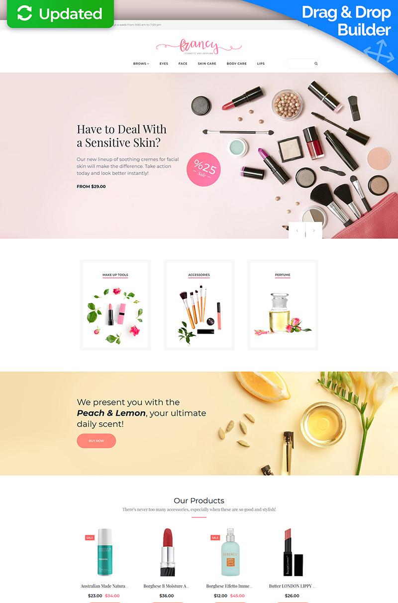 Reszponzív Francy - Cosmetics Store MotoCMS Ecommerce sablon 65588