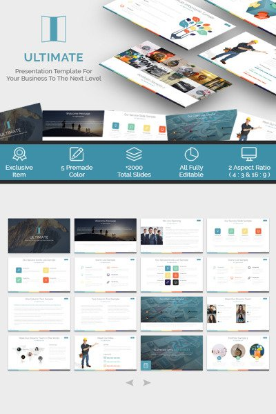ultimate - presentation powerpoint template #65545, Modern powerpoint