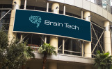 Brain Tech Logo Template