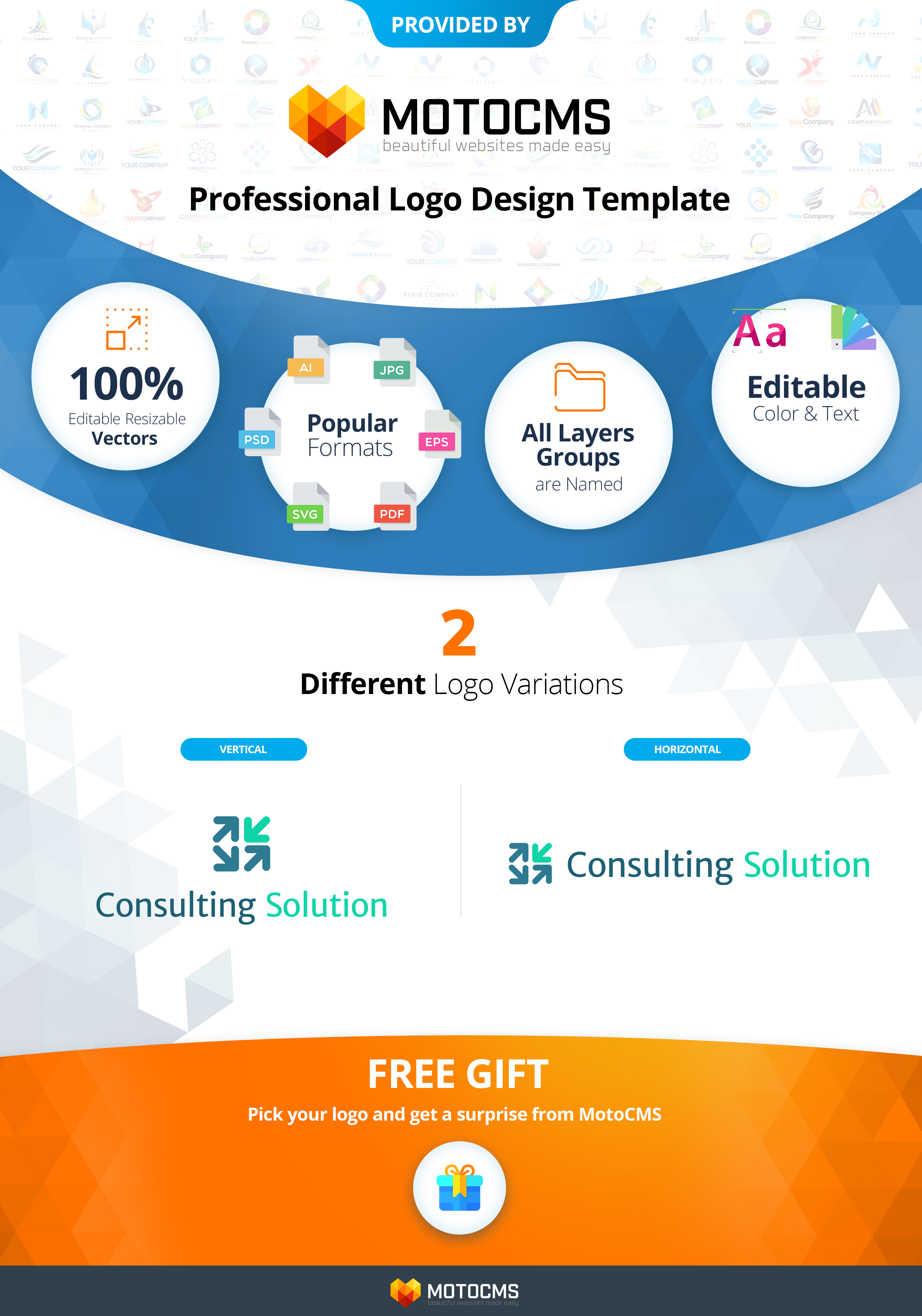 Consulting Solution Logo Template