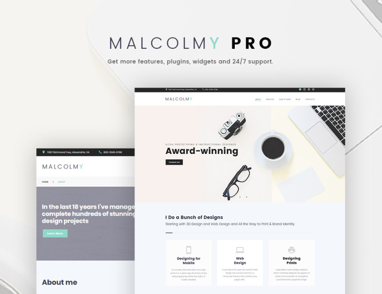 Tema de WordPress #65673 para Sitio de Portafolios de diseñadores