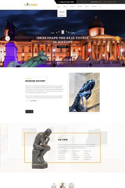 Адаптивный WordPress шаблон №65687 на тему искусство #65687