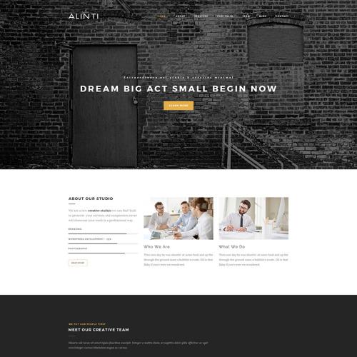 Alinti - Minimal Creative Portfolio - WordPress Template based on Bootstrap