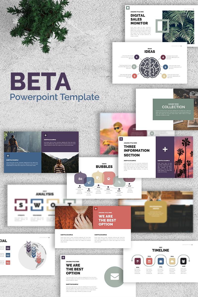 """""""Beta -"""" modèle PowerPoint Premium #65682"""