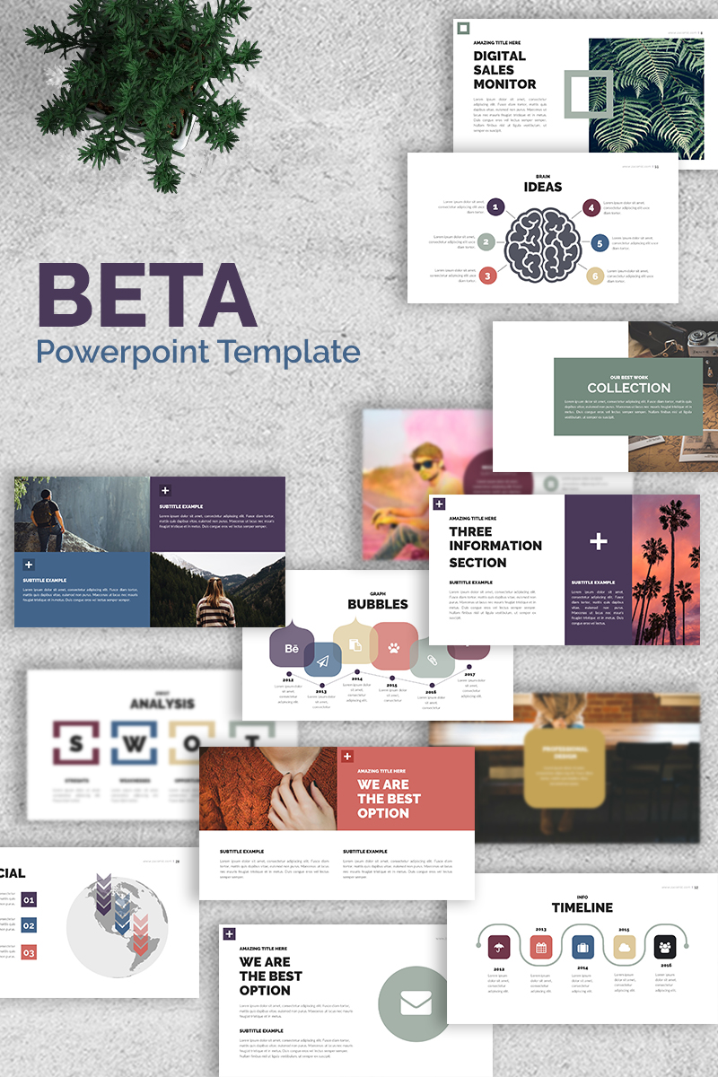 """Beta -"" Premium PowerPoint Template №65682"
