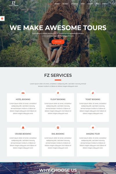 Bootstrap szablon strony www #65645 na temat: biuro podróży i turystyki #65645