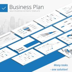 Finance keynote templates templatemonster business plan multipurpose keynote template 65629 flashek Gallery