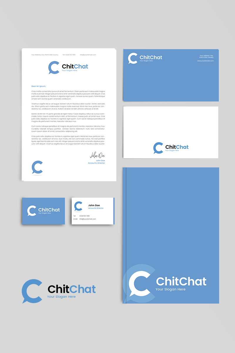 Chat corporate identity Corporate Identity Template