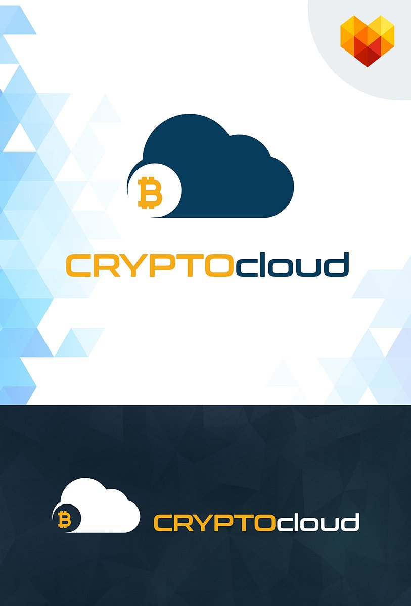 Crypto Cloud - Bitcoin Trading Company Business Logo Template