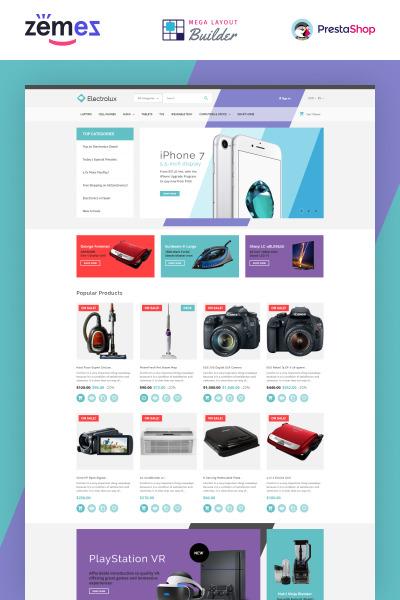 Electrolux - szablon PrestaShop dla e-sklepu elektrycznego #65698
