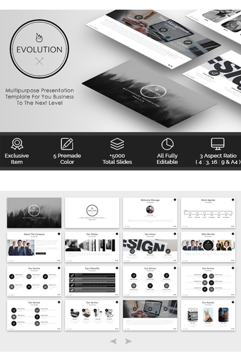 EVOLUTION - Multipurpose PowerPoint Template