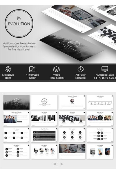EVOLUTION - Multipurpose PowerPoint Template #65628