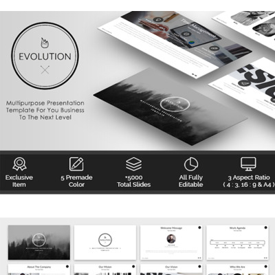 Evolution multipurpose powerpoint template 65628 accounting website powerpoint template toneelgroepblik Gallery