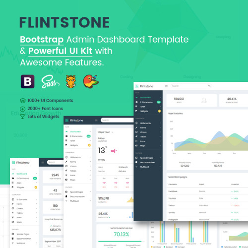 Flintstone- The Ultimate Multipurpose - Admin Template based on Bootstrap